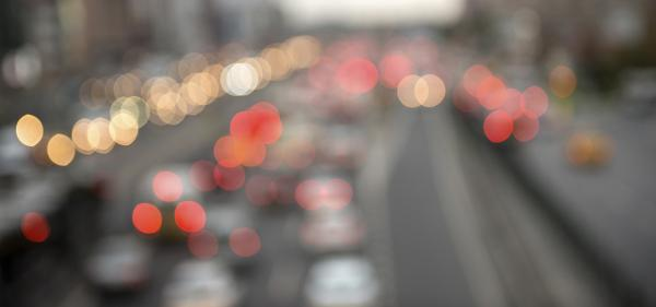 Traffic in Vancouver after a car accident left a driver with bone fractures.